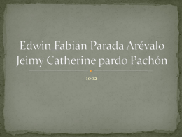 Edwin Fabián Parada Arévalo Jeimy Catherine pardo