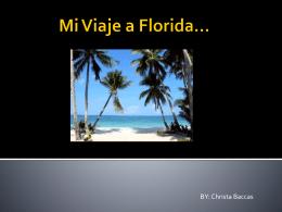Mi Viaje a Florida*