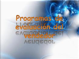 Programas de evaluación del vendedor