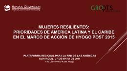 enfoque para la construcción de la resiliencia comunitaria