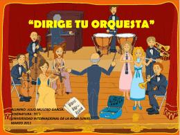 DIRIGE TU ORQUESTA - orquestaenprimaria