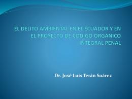 el delito ambiental en el ecuador y en el proyecto de