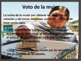 Voto de la mujer