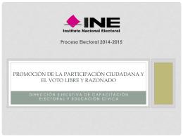 Promoción de la participación ciudadana y el voto libre