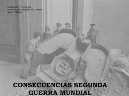 Consecuencias de la Segunda Guerra Mundial