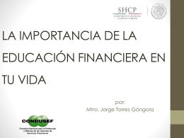 Condusef y la Educación Financiera