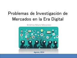 Problemas de investigación de mercado en la era digital