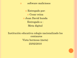 Software Malicioso - ParqueSoft