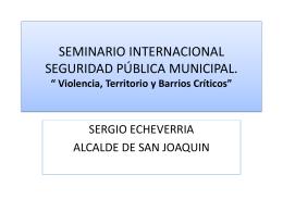 PRESENTACION SERGIO ECHEVERRIA SEMINARIO