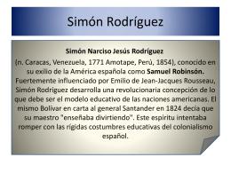 Simón Rodríiguez, la educación social