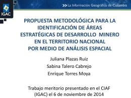 propuesta metodológica de un modelo de análisis espacial para la