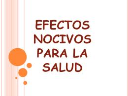 PINTURAS Y SUS EFECTOS NOCIVOS PARA LA SALUD