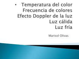 Temperatura del color Frecuencia de colores