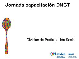 Presentación Participación - Ministerio de Desarrollo Social