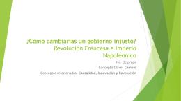 Revolución Francesa e Imperio Napoléonico