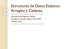 Arreglos y Cadenas