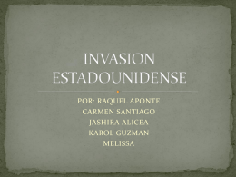 INVASION ESTADOUNIDENSE