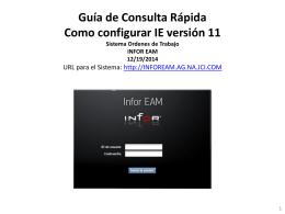 Guía de Consulta Rápida Como Configurar IE Versión 11