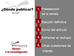 Dónde publican nuestros colegas? - Biblioteca Universidad de Sevilla