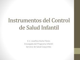 Instrumentos del Control de Salud Infantil