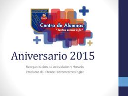 Aniversario 2015