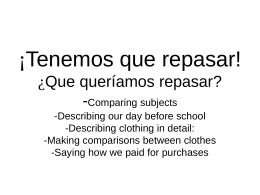 ¡Tenemos que repasar! - Liberty Union High School District