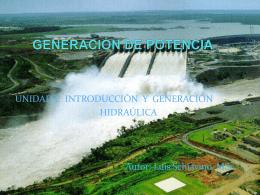 GENERACIÓN DE POTENCIA. Unidad I.1