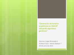Generación de Horarios Académicos en INACAP