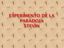 Experimento de la paradoja stevin