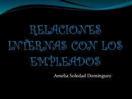 RELACIONES INTERNAS CON LOS EMPLEADOS