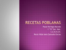 RECETAS TIPICAS DE PUEBLA