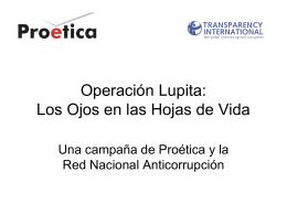 Operación Lupita: Los Ojos en las Hojas de Vida
