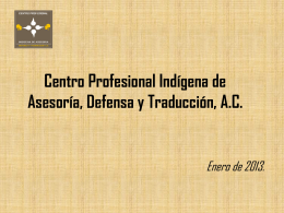 Centro Profesional Indígena de Asesoría, Defensa y Traducción, A.C.