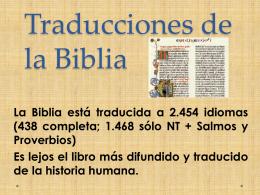 6. traducciones - Iglesia Cristiana La Serena