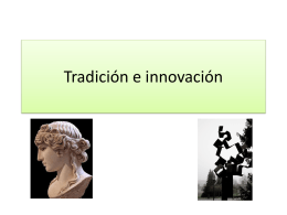 Tradición e innovación