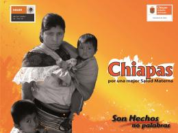 Chiapas - Maternidad sin riesgos