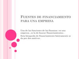 Fuentes de financiamiento para una empresa
