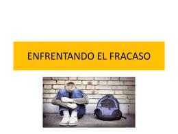 ENFRENTANDO EL FRACASO