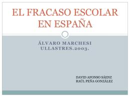 EL FRACASO ESCOLAR EN ESPAÑA