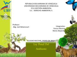 presentacion de la ley penal del ambiente