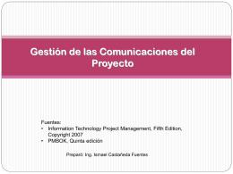Planificar la Gestión de las Comunicaciones