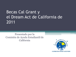 Becas Cal Grant y el Dream Act de California de 2011