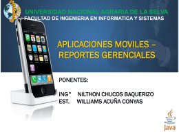 Aplicaciones Moviles - Universidad Nacional Agraria de la Selva