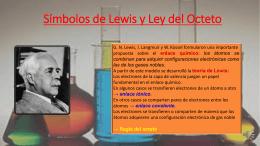 Símbolos de Lewis y Ley del Octeto