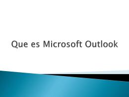 Que es Microsoft Outlook