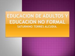 Educación de Adultos Por Nancy Tadeo