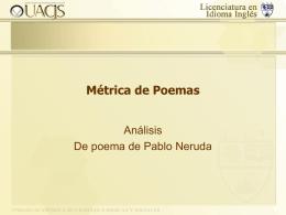 Métrica de Poemas