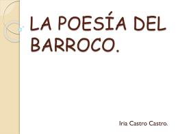 LA POESÍA DEL BARROCO.