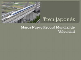 Tren Japonés - WordPress.com