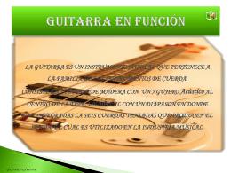 Guitarra en función